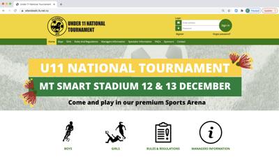 U11s National Tournament website